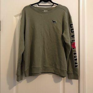 Army Green PINK Victoria Secret Sweatshirt
